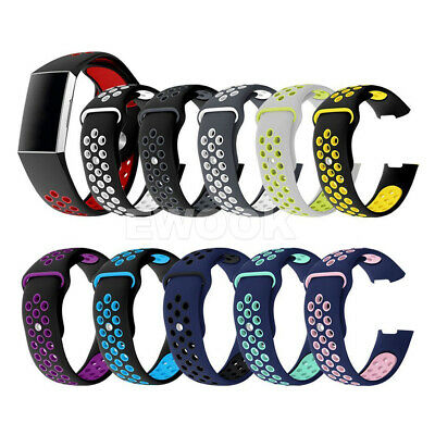 For Fitbit Charge 3 Bands Soft Silicone Adjustable Replacement Sport Strap Band 9