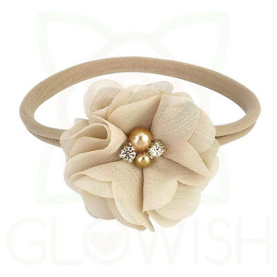 Handmade Newborn Baby Girls Flower Headband Infant Toddler Knot Hair Band Sets 8