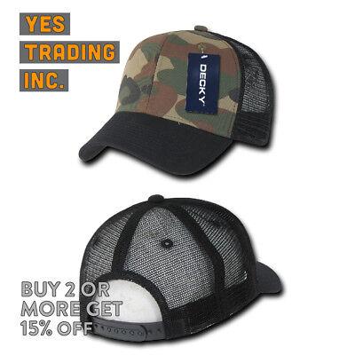 919120649b DECKY MENS TRUCKER Hat Baseball Hats Snapback Cap Camo Military Bdu Mesh  Caps
