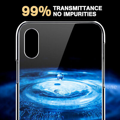 iPhone X XS Max XR 8 7 Shockproof Slim Crystal Clear  Hard Case Cover For Apple 2