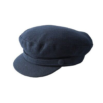 Failsworth Men's Classic Melton Wool Mariner/ Breton Cap (Navy or Black) 2