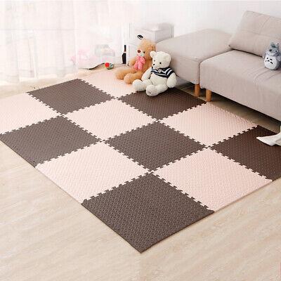 4 Tiles Home Yoga Gym Fitness Interlock EVA Foam Floor Mat Puzzle Baby Kids Play 2