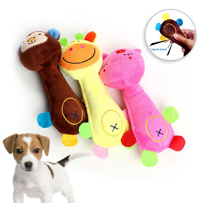 Funny Soft Pet Puppy Chew Play Squeaker Squeaky Cute Plush Sound Dog Toys UK # 10