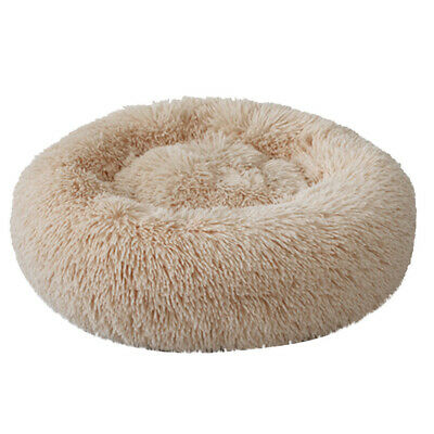 Donut Plush Pet Dog Cat Bed Fluffy Soft Warm Calming Bed Sleeping Kennel Nest 3