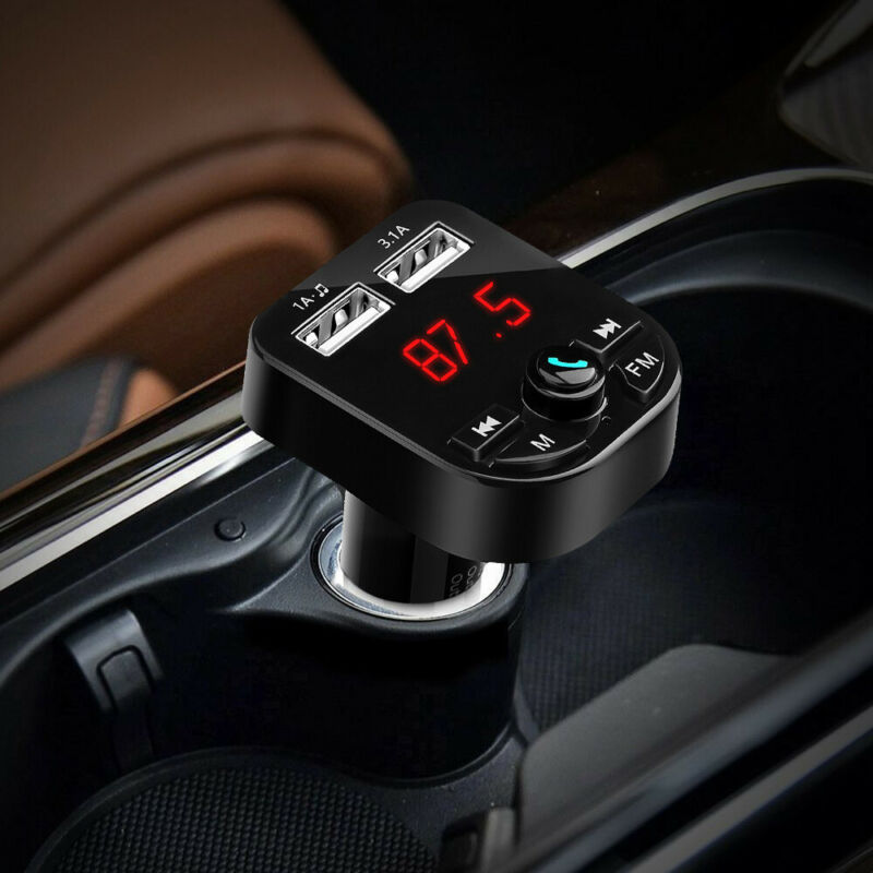Bluetooth 5.0 Wireless FM Transmitter Car Audio MP3 Player Dual USB Charger Kit 2