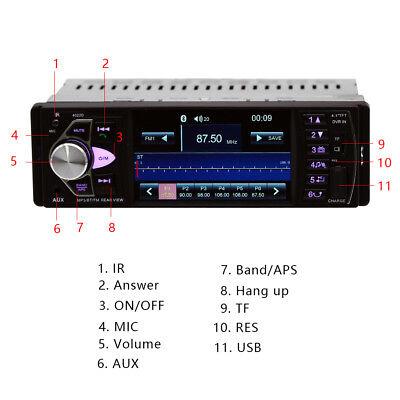 1Din Autoradio Mit Bildschirm Display Video Monitor Bluetooth Freisprech Usb Sd 6