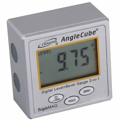 iGaging Angle Cube Digital Magnetic Protractor Gauge Level  Table Saw w/Case 2