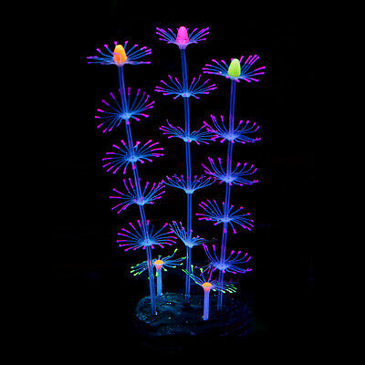 Silicone Artificial Fish Tank Aquarium Coral Plant Flower Ornament Water Decors 6