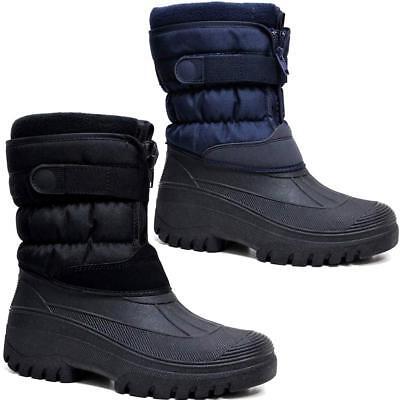 Mens Ladies Snow Boots Winter Waterproof Mucker Thermal Wellingtons Fur Boots 6