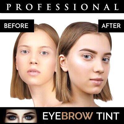 Professional EYEBROW HENNA Brow Eyelash TINT Dye Cream Black Brown Graphite 15ml 10