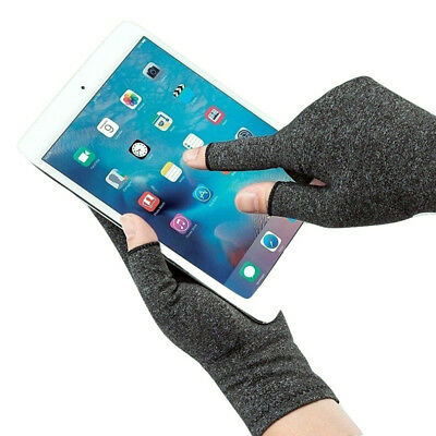 Compression Fingerless Gloves Anti Arthritis Finger Brace Support Pain Relief UK 8