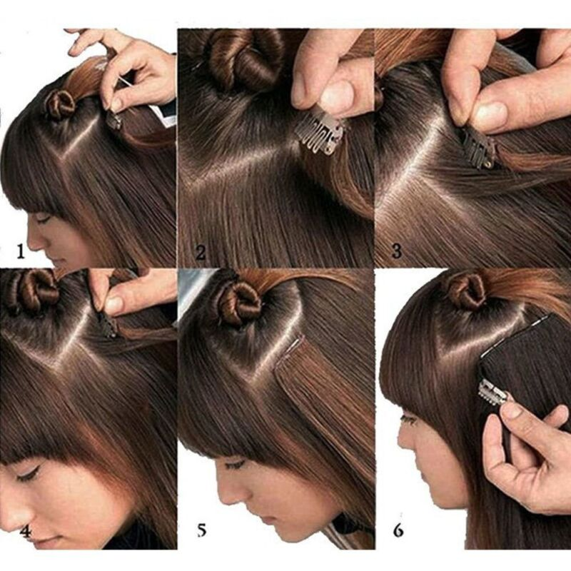 Uk Seamless Clip In Tape Human Remy Hair Extensions Full Head 16 18