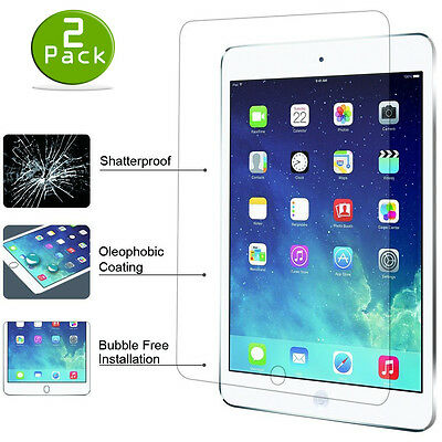 2 Pack Tempered GLASS Screen Protector For iPad 2 3 4 5 6 2017 Pro 9.7 Mini Air 3