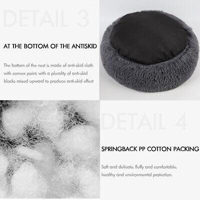 Large Pet Bed Luxury Shag Warm Fluffy Dog Bed Nest Cat Mattress Fur Donut Pad UK 3
