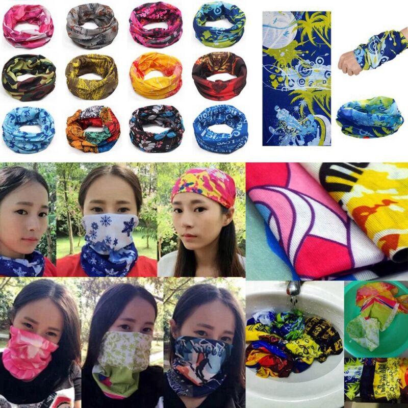 Multi Magic Head Face Mask Snood Neck Tube Outdoor Sport Wrap Shawl Buff Scarf- 4