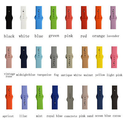 Silicone Bracelet Band Strap Sports Bands For Apple Watch iWatch Series 1/2/3/4 4
