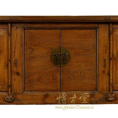 Antique Chinese Rustic Long Sideboard/Buffet Table, Credenza 7