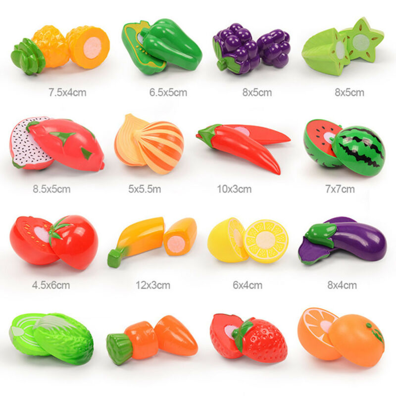 24pcs  Kitchen Fruit Vegetable Pretend Play Toy  Cutting Toy Simulation Food 9