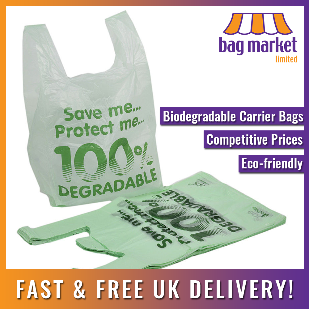 Strong Plastic Carrier Bags!   Blue/White/Black/Green/Red   Shopping/Supermarket 3