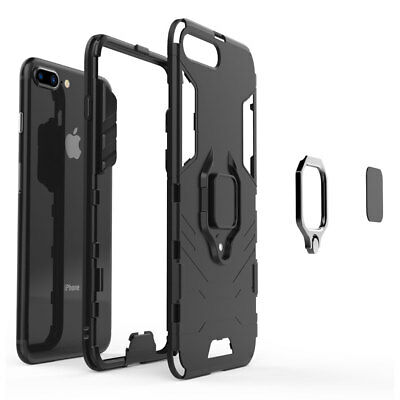 For iPhone 7 Plus 8Plus Shockproof Ring Stand Mount Rugged Hybrid Case Cover 2