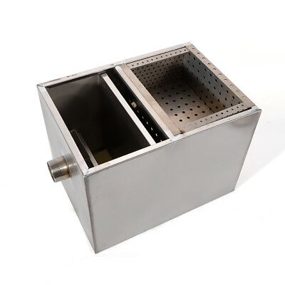 Kitchen Upgraded Grease Trap Interceptor Stainless Steel Wastewater Mineral Oil 8