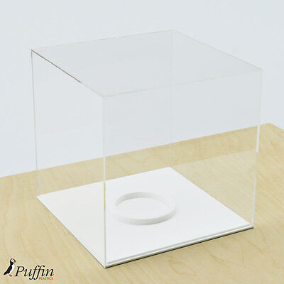 Perspex Football Display Case - WHITE BASE (WITH FREE PERSONALISED PLAQUE) 2