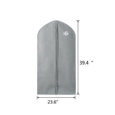 "10 Pack 40"" Garment Bag Suit Storage Cover Dress Clothes Coat Dust Protector 9"