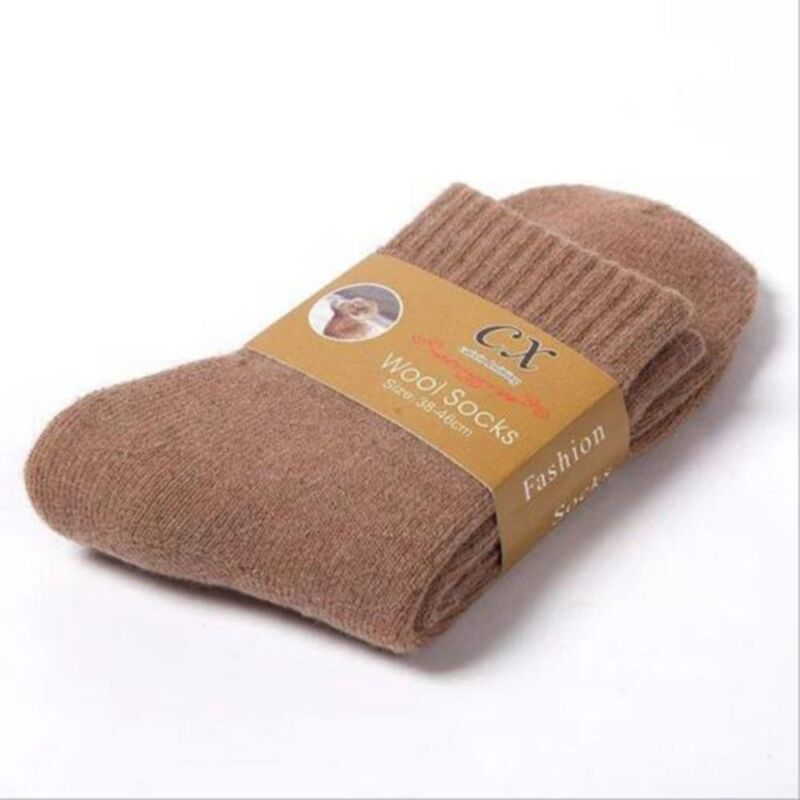 Warm Thick Wool Cashmere Comfortable Thick Socks Men Winter Outdoor Sport Socks 6