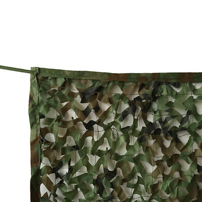 Woodland Camouflage Netting Military Camo Net Hunting w/ String Backing 13x10ft 3