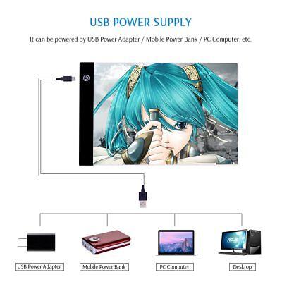 Tableta Gráfica Electrónica A4 De Dibujo De Arte Digital USB Luz LED 3 Niveles 2