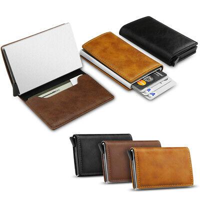 New Leather Credit Card Holder Men's Money cash Wallet Clip RFID Blocking Purse 4