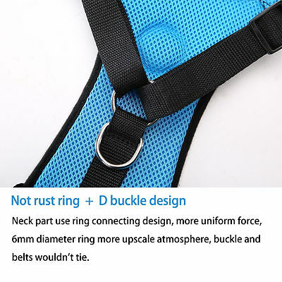 Breathable Air Mesh Dog Car Harness for Small Large Dogs Travel Seat belt Clip 9