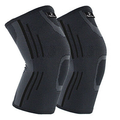 2X Knee Compression Sleeve for Arthritis Joint Pain Relief Workout Sport Braces 9