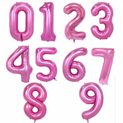 """32"""" 40"""" Giant Foil Number Balloons letter Air Helium Birthday Age Party Wedding 6"""