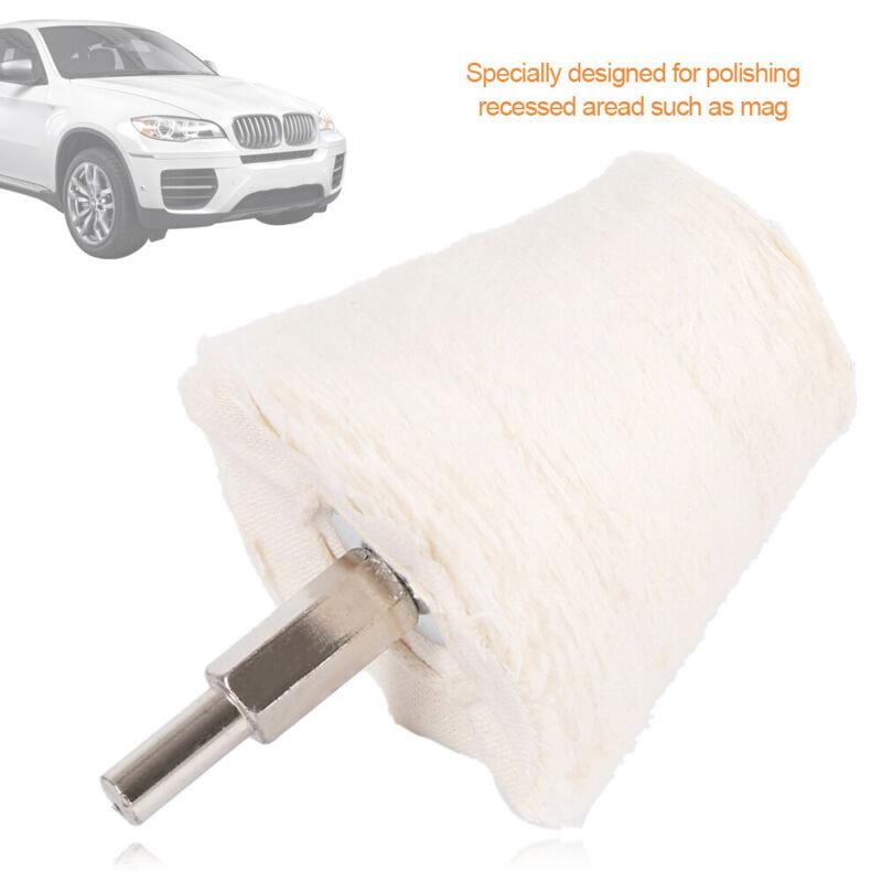 4X Almohadilla de pulido, mopa, montaje de ruedas y taladro para pulir automóvil 6