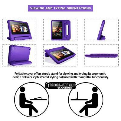 """For Amazon Fire 7"""" HD 8"""" Tablet ShockProof EVA Handle Kids Stand Cover Case +Pen 7"""