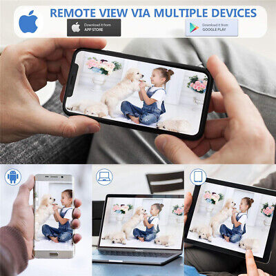 1080P WIFI IP Camera WHITE Wireless Outdoor CCTV HD Home Security IR Cam 2Mp 3