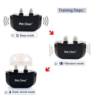 Electric Remote Dog Training Collar 330Yard Rechargeable Shock Collar For 2 Dogs 3