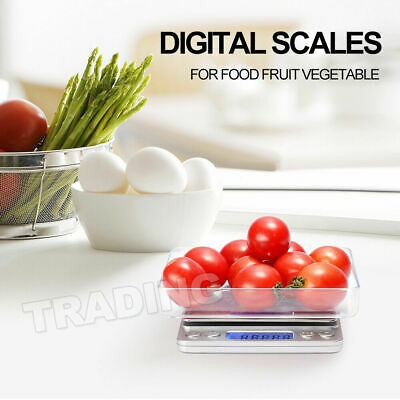 0.01-500g Kitchen Food Scale Digital LCD Electronic Balance Weight Postal Scales 10