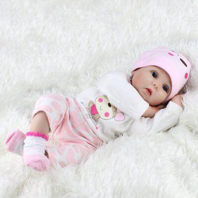 22'' Reborn Baby Dolls Realistic Vinyl Silicone Newborn Girl Doll Handmade Gifts 3