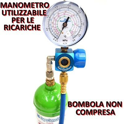 3S Kit Carica E Vuoto Pompa 70 Lt Manometro Ricariche Gas R32 R410A R407C R134A 4
