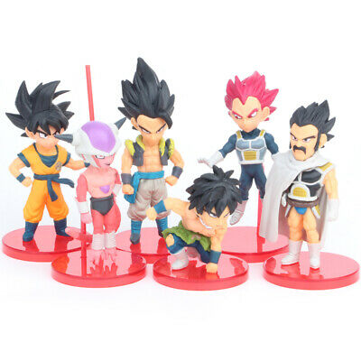 Dragon Ball Son Goku Vegeta Buu 16 PCS Action Figure Cake Topper Kids Gift Toys