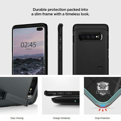 Samsung Galaxy S10 Plus S10e S9 S8 Case SPIGEN Tough Armor Shockproof Hard Cover 3