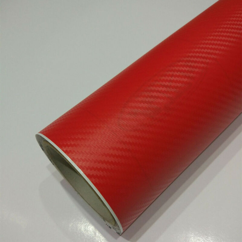 "3D Carbon Fiber Matte Vinyl Film Auto Car Sheet Wrap Roll Sticker Decor 12""x50"" 10"
