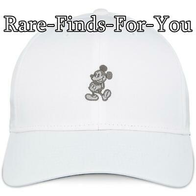 Disney Parks Nike Dri Fit Mickey Mouse White Grey Golf Baseball Cap Hat NEW/TAGS 9