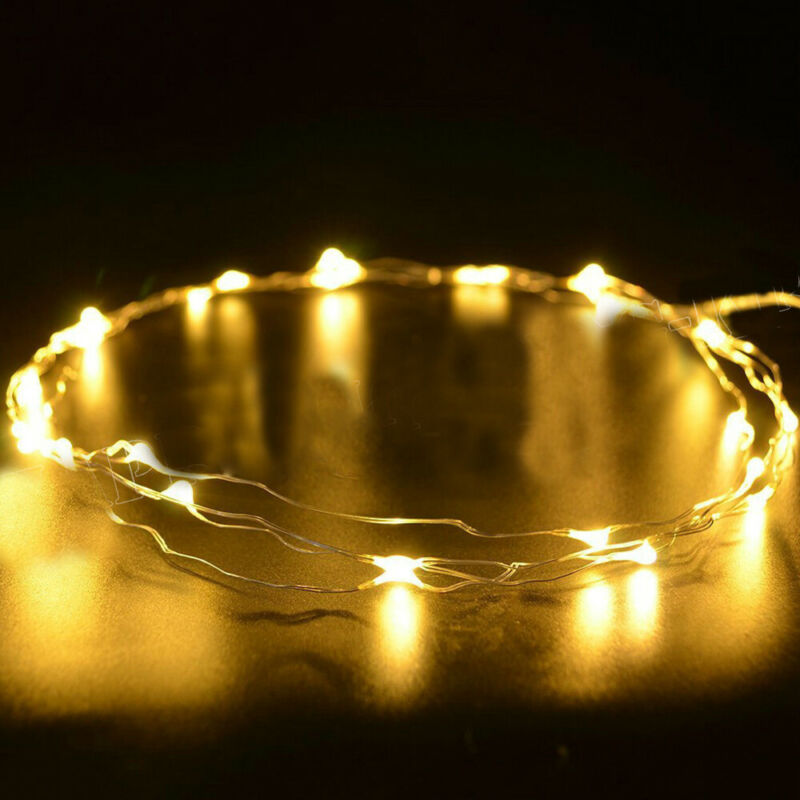 6 Pack 20 LED Battery Micro Rice Wire Copper Fairy String Lights Party Decor 2M 3