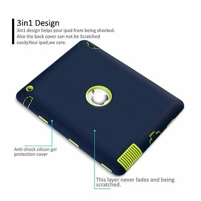 """Heavy Duty Shockproof Case Cover For New iPad 6th Gen 9.7"""" iPad 4 3 2 mini Air 9"""