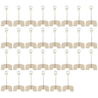 30PCS Metal Wire Card Clip Wedding Table Stand Note Memo Photo Holder Home Decor 2