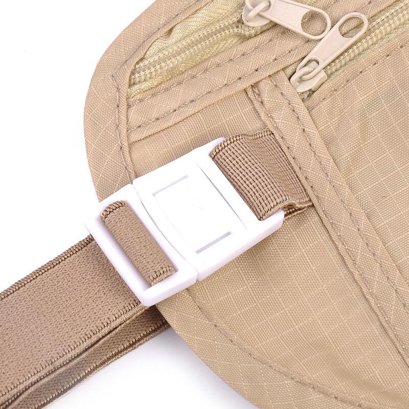 Travel Money Belt Hidden Waist Security Wallet Bag Passport Pouch RFID Holder 10