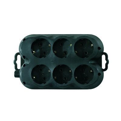 Solid Rubber Schuko Plug, Socket or Schuko Coupling IP 44 Made in Eu 7